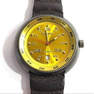 Other - Diesel Watch Gold Face With Leather Strap